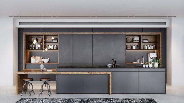 מטבח מודרני שחור - מטבחי נובו
